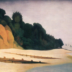 100% Hand Painted Oil on Canvas - Shore scene with tree silhouette by Felix Vallotton