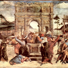 The Museum Outlet - Sistine Chapel - punishing the Levites detail [2] by Botticelli