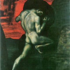 100% Hand Painted Oil on Canvas - Sisyphus by Franz von Stuck