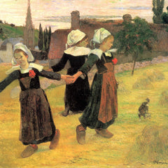 The Museum Outlet - Small Breton Women by Gauguin