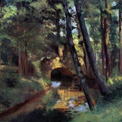 100% Hand Painted Oil on Canvas - Small bridge of Pontoise by Pissarro