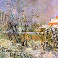 The Museum Outlet - Snow in Rue Carcel by Gauguin