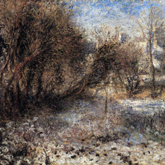 100% Hand Painted Oil on Canvas - Snowy landscape by Renoir