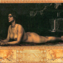 100% Hand Painted Oil on Canvas - Sphinx by Franz von Stuck