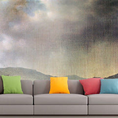 Roshni Arts - Curated Art Wall Mural - Spring rain, the valley of Connecticut by Martin Johnson Heade | Self-Adhesive Vinyl Furnishings Decor Wall Art
