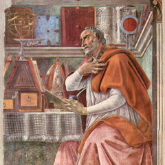 The Museum Outlet - St. Augustine in prayer by Botticelli