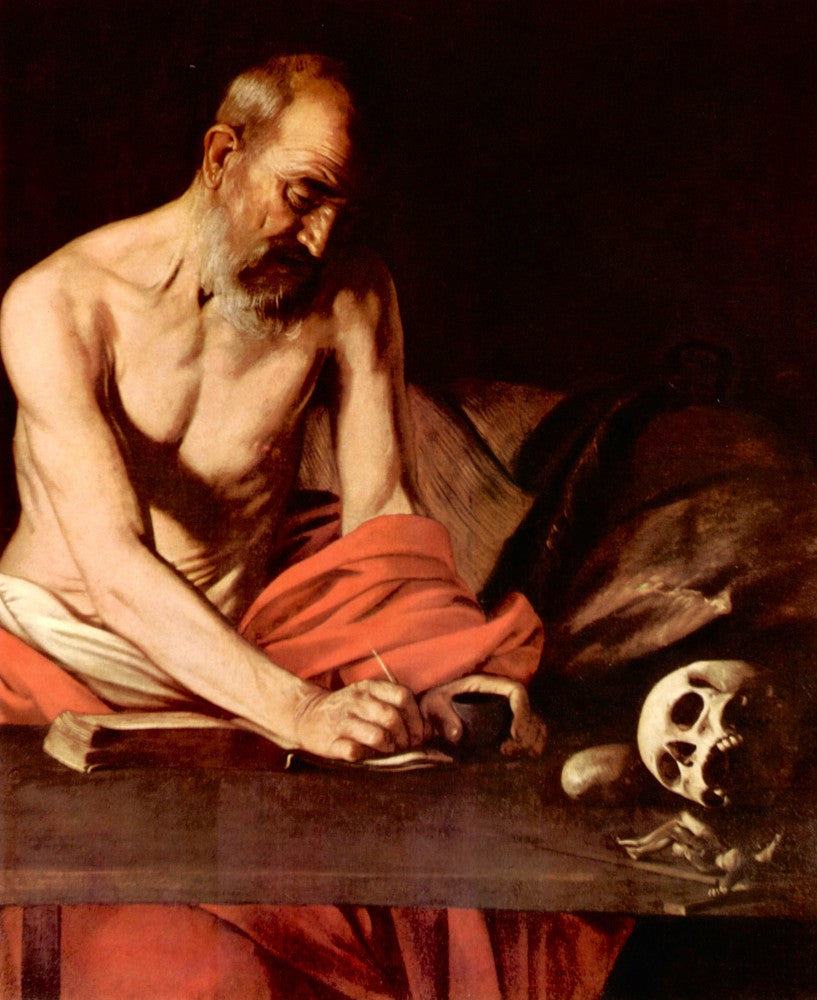 The Museum Outlet - St. Hieronymus by Caravaggio