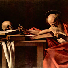 The Museum Outlet - St. Jerome while writing by Caravaggio