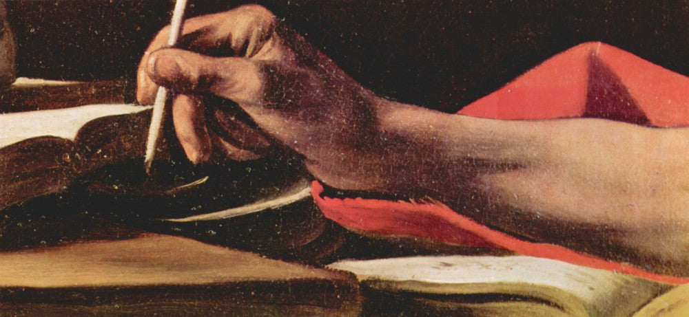 The Museum Outlet - St. Jerome while writing detail by Caravaggio