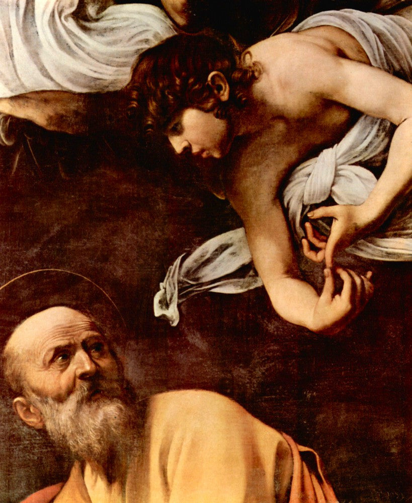 The Museum Outlet - St. Matthew and the Angel detail by Caravaggio