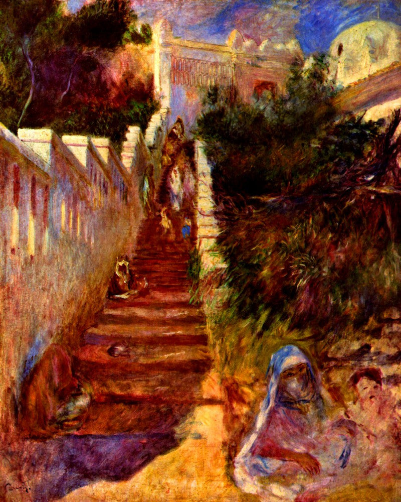 The Museum Outlet - Stairs in Algier by Renoir