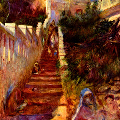 100% Hand Painted Oil on Canvas - Stairs in Algier by Renoir