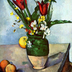The Museum Outlet - Still Life, Tulips and Apples by Cezanne