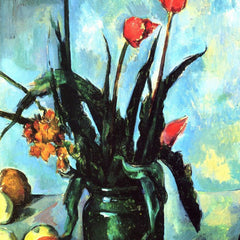 The Museum Outlet - Still Life, vase with Tulips by Cezanne