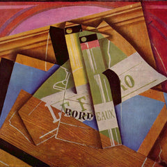 100% Hand Painted Oil on Canvas - Still Life with Bordeau Winde by Juan Gris