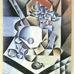 100% Hand Painted Oil on Canvas - Still Life with Flowers by Juan Gris