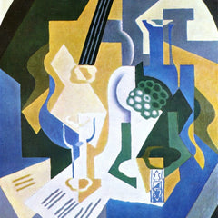 100% Hand Painted Oil on Canvas - Still Life with Fruit bowl and mandolin by Juan Gris