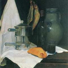 100% Hand Painted Oil on Canvas - Still Life with Herrings by Felix Vallotton