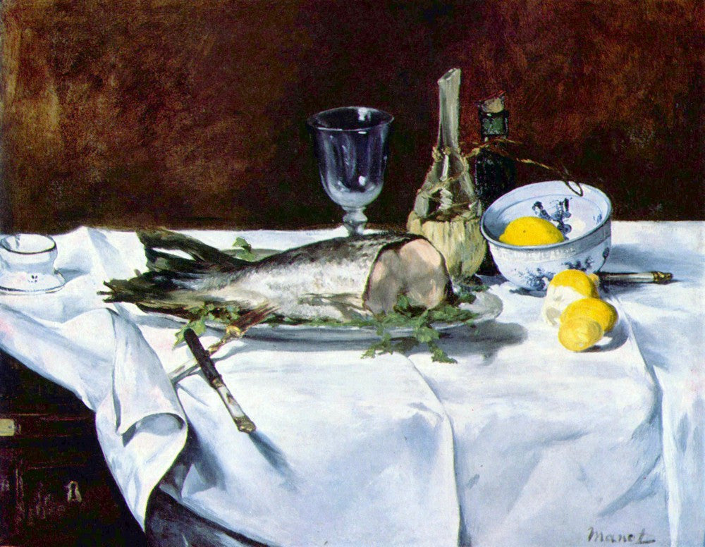 The Museum Outlet - Still Life with Salmon by Manet