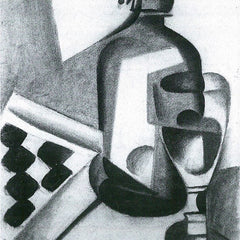 100% Hand Painted Oil on Canvas - Still Life with Siphon by Juan Gris
