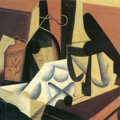 100% Hand Painted Oil on Canvas - Still Life with a white tablecloth by Juan Gris