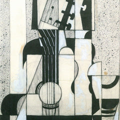100% Hand Painted Oil on Canvas - Still Life with guitar by Juan Gris