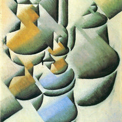 100% Hand Painted Oil on Canvas - Still Life with oil lamp by Juan Gris