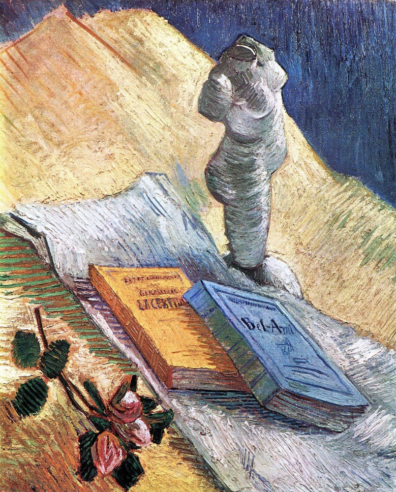 The Museum Outlet - Still Life with torso, a rose and two novels by Van Gogh