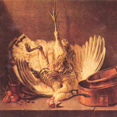 The Museum Outlet - Still Life with turkey by Jean Chardin