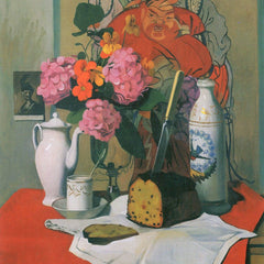 100% Hand Painted Oil on Canvas - Still life by Felix Vallotton