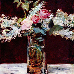 The Museum Outlet - Still life, lilac and roses by Manet