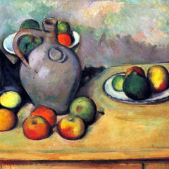 The Museum Outlet - Still life, pitcher and fruit on a table by Cezanne