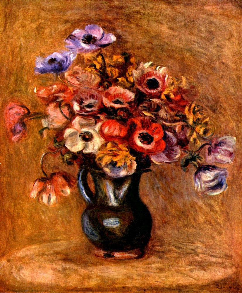 The Museum Outlet - Still life with anemones by Renoir