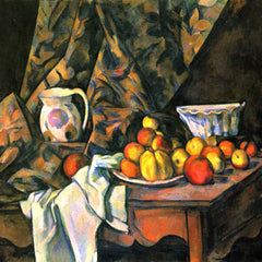 The Museum Outlet - Still life with apples and peaches by Cezanne