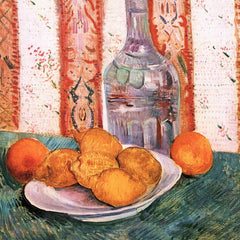The Museum Outlet - Still life with bottle and lemons on a plate by Van Gogh