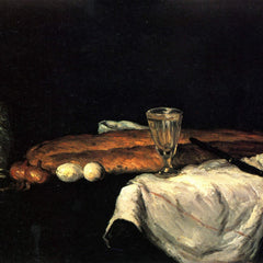 The Museum Outlet - Still life with bread and eggs by Cezanne
