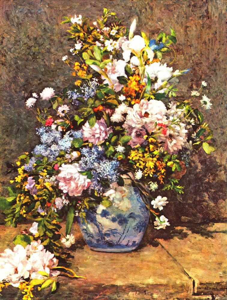 The Museum Outlet - Still life with large vase by Renoir