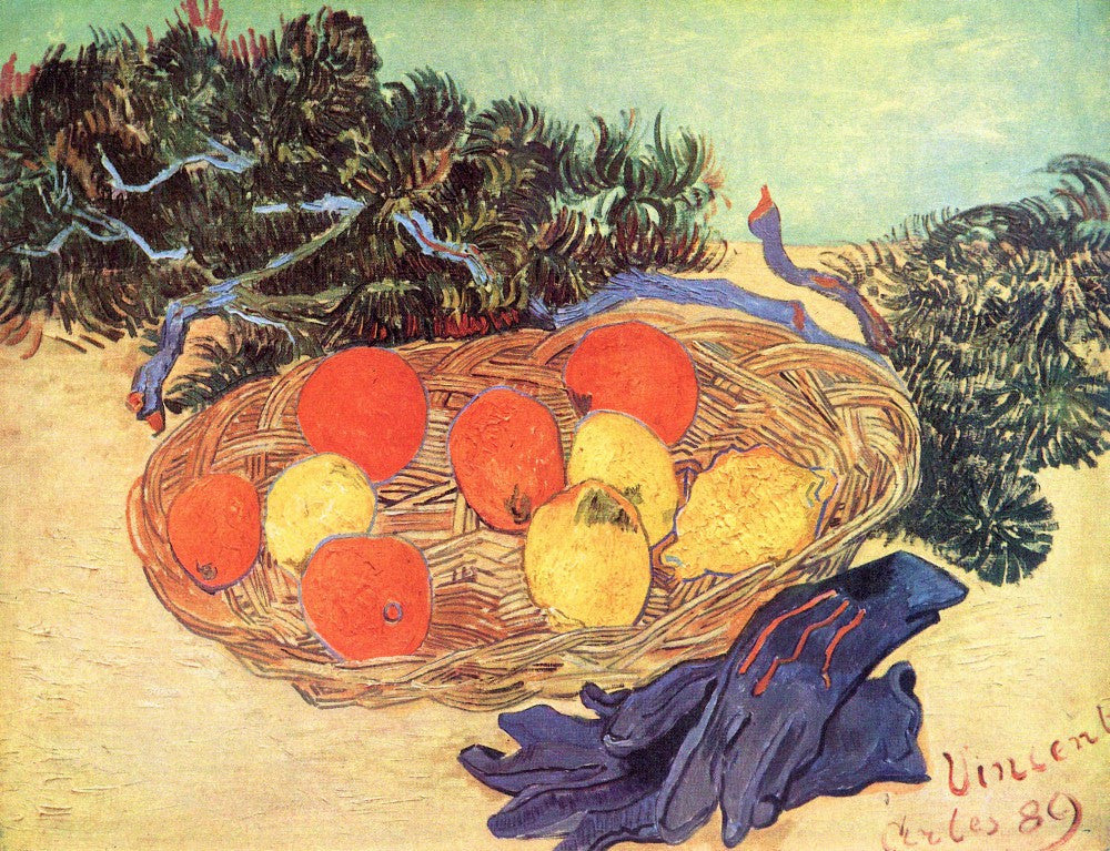 The Museum Outlet - Still life with oranges, lemons and blue gloves by Van Gogh