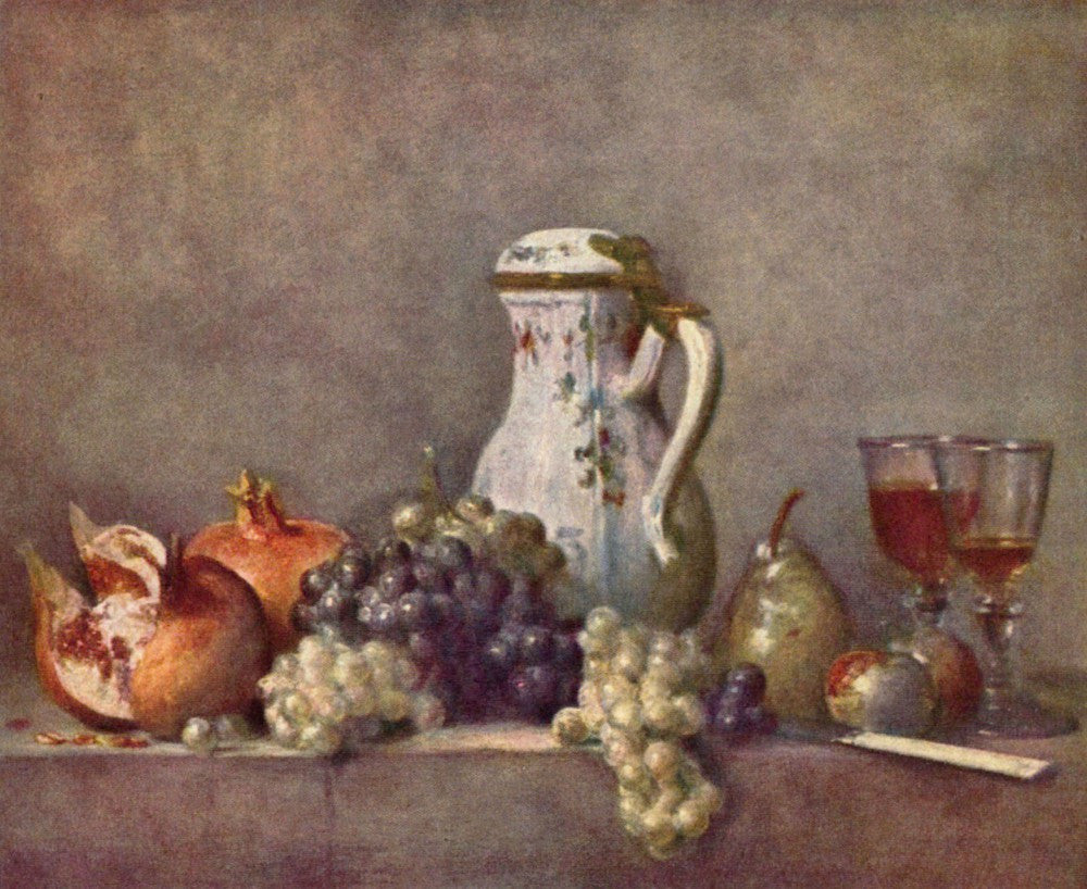 The Museum Outlet - Still life with porcelain jug by Jean Chardin
