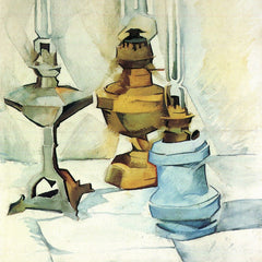 The Museum Outlet - Still life with three lamps by Juan Gris