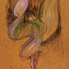 100% Hand Painted Oil on Canvas - Study for Loie Fuller by Toulouse-Lautrec