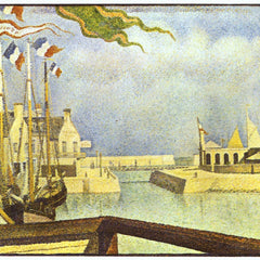 100% Hand Painted Oil on Canvas - Sunday in Port-en-Bessin by Seurat