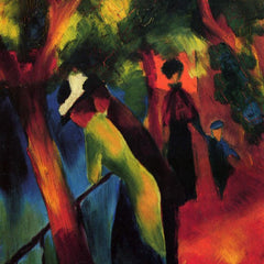 The Museum Outlet - Sunny way by August Macke