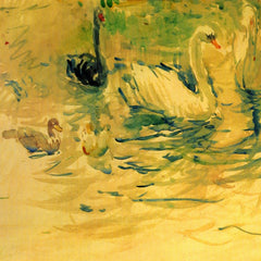 100% Hand Painted Oil on Canvas - Swans by Morisot