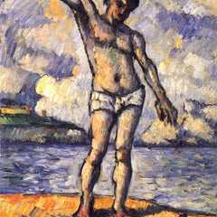 The Museum Outlet - Swimmer with outstretched arms by Cezanne