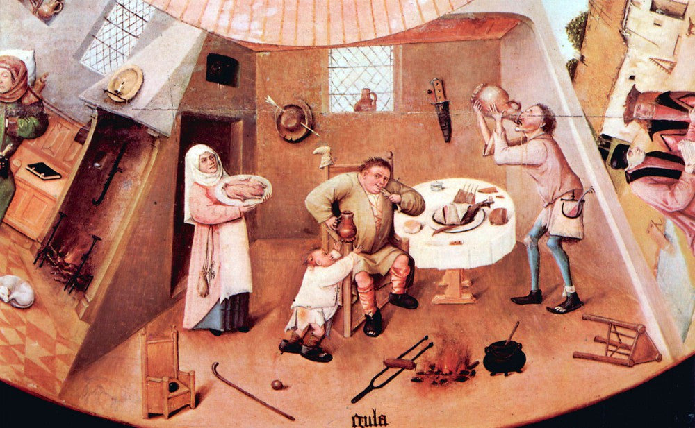 The Museum Outlet - Table with scenes of the seven deadly sins detail [4] by Bosch