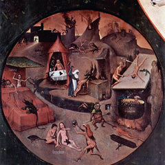 The Museum Outlet - Table with scenes of the seven deadly sins detail by Bosch