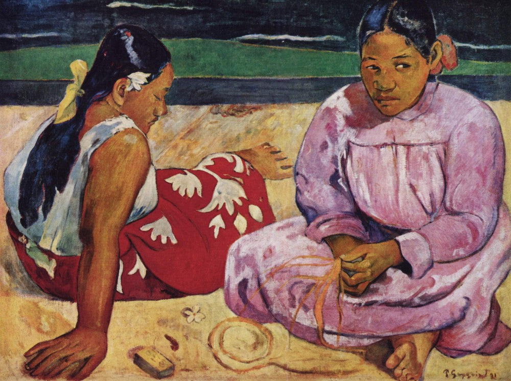 The Museum Outlet - Tahitian Women on Beach by Gauguin