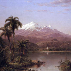 The Museum Outlet - Tamaca palms by Frederick Edwin Church