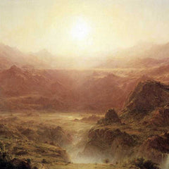 The Museum Outlet - The Andes of Ecuador Detail by Frederick Edwin Church